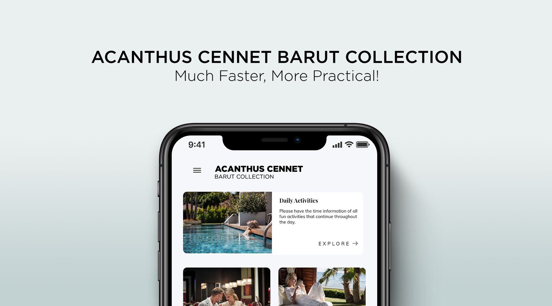 Acanthus Cennet Barut Collection mobile application is waiting for you at Google Play Store or App Store.